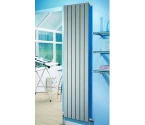 Eastgate Sheer Silver Vertical Flat Single Panel Designer Radiator 600mm x 595mm