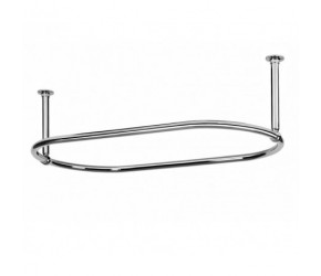 Eastgate Traditional Large 1135mm Oval Chrome Shower Curtain Rail