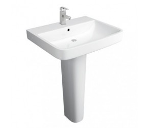 Kartell Sicily 550mm 1 Tap Hole Basin and Pedestal