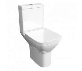 Kartell Project Square Close Coupled Toilet With Soft Close Seat