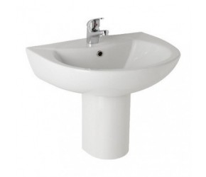 Kartell G4 545mm 1 Tap Hole Basin and Semi Pedestal