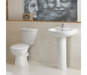 Kartell G4 4 Piece Basin and Toilet Bathroom Suite
