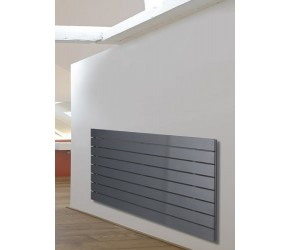 Eucotherm Mars Anthracite Flat Single Panel Designer Radiator 595mm x 1200mm