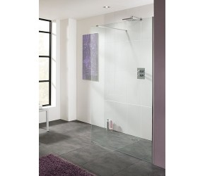 Lakes Cannes Frameless Walk-In Shower Panel 1100mm Wide x 2000mm High