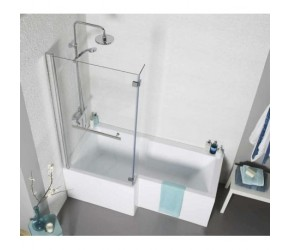 Kartell Tetris Left Hand L Shaped Square Shower Bath 1700mm x 850mm