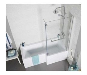 Kartell Tetris Right Hand L Shaped Square Shower Bath 1700mm x 850mm