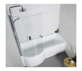 Kartell Adapt Left Hand P Shape Shower Bath 1700mm x 850mm
