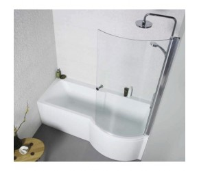 Kartell Adapt Right Hand P Shape Shower Bath 1700mm x 850mm