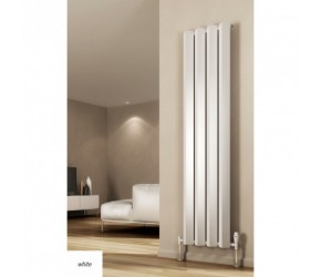 Reina Alp White Vertical Designer Radiator 1800mm High x 424mm Wide