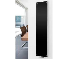 Eucotherm Mars Vitro Black Vertical Flat Panel Glass Designer Radiator 1800mm x 445mm