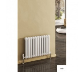 Reina Coneva White Horizontal Designer Radiator 550mm High x 1210mm Wide