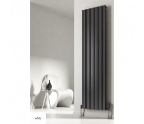 Reina Raile White Vertical Designer Radiator 1800mm High x 320mm Wide