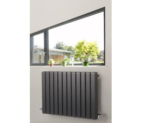 Eastgate Edge Anthracite Square Tube Horizontal Designer Radiator 600mm x 885mm