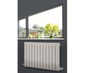 Eastgate Edge White Square Tube Horizontal Designer Radiator 600mm x 1185mm