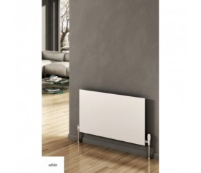 Reina Slimline White Horizontal Designer Radiator 600mm High x 600mm Wide