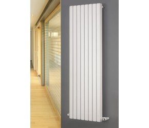 Eastgate Edge White Square Tube Vertical Designer Radiator 1800mm x 285mm