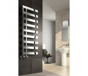Reina Capelli Polished Stainless Steel Designer Radiator 1235mm High x 500mm Wide