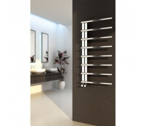 Reina Celico Polished Stainless Steel Designer Towel Rail 585mm High x 500mm Wide