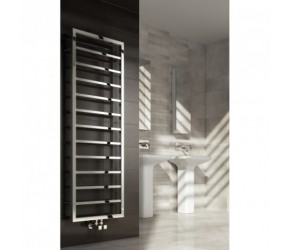 Reina Egna Polished Stainless Steel Designer Radiator 1255mm High x 500mm Wide