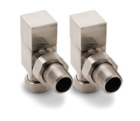 Reina Loge Angled Brushed Radiator Valves