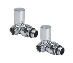 Reina Crova Chrome Corner Radiator Valves