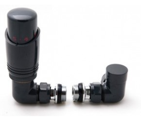 Reina Modal Corner Anthracite TRV Radiator Valves Inc Lockshield