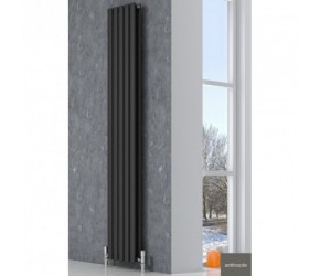 Reina Neva Single Panel Anthracite Designer Radiator 1800mm x 531mm