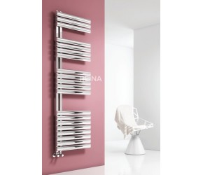 Reina Scalo Brushed Stainless Steel Towel Rail 1535mm High x 500mm Wide