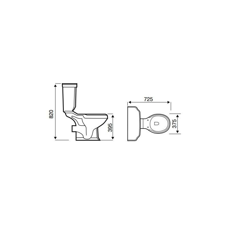 Kartell Astley Traditional 4 Piece Bathroom Suite
