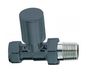 Phoenix Anthracite Straight Roundhead Radiator Valves