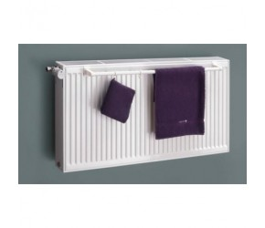Eastgate White Towel Rail Bar To Fit 600mm Double Panel Radiator