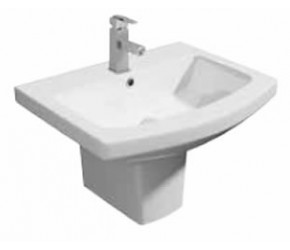 Kartell Trim 550mm 1 Tap Hole Basin and Semi Pedestal
