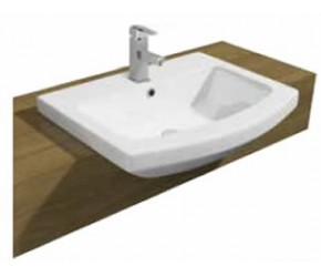 Kartell Trim 550mm 1 Tap Hole Semi Recessed Basin