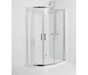 Kartell Koncept 900mm X 760mm Offset Quadrant Shower Enclosure Inc Tray and Waste