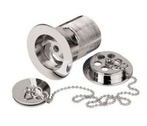BC Designs Concealed Plug and Chain Bath Waste - Chrome