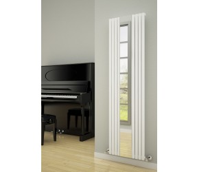 Reina Reflect Black Vertical Mirror Radiator 1800mm x 445mm