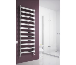 Reina Deno Polished Stainless Steel Towel Rail 496mm High x 500mm Wide