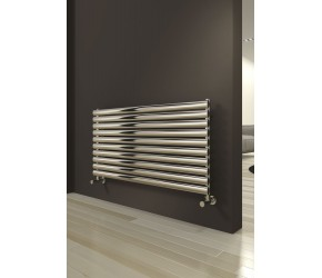 Reina Artena Single Panel Brushed Stainless Steel Radiator 590mm x 600mm