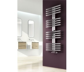 Reina Sorento Polished Stainless Steel Towel Rail 1106mm High x 600mm Wide