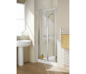 Lakes Classic Semi-Frameless Bi-Fold Shower Door 1000mm Wide x 1850mm High