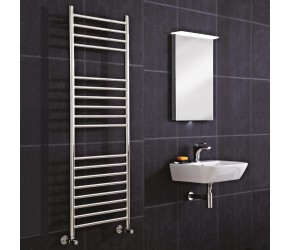 Phoenix Athena Stainless Steel Straight Towel Rail 800mm High x 600mm Wide
