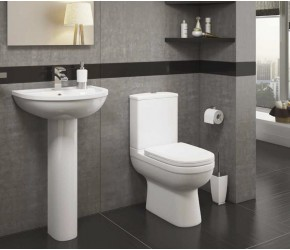 Kartell Lifestyle Close To Wall Close Coupled Toilet and Seat
