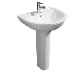 Kartell Lifestyle 500mm 1 Tap Hole Basin and Pedestal