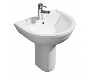 Kartell Lifestyle 450mm 1 Tap Hole Basin and Semi Pedestal