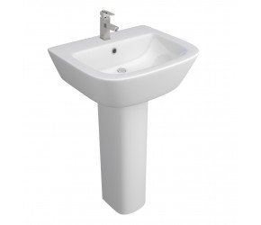 Kartell Project Square 530mm 1 Tap Hole Basin and Pedestal
