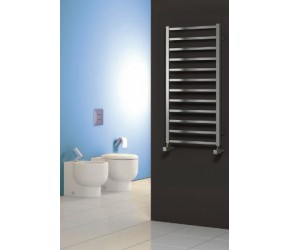 Reina Arden Brushed Stainless Steel Towel Rail 1000mm High x 500mm Wide