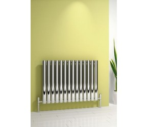 Reina Nerox Polished Stainless Steel Single Panel Radiator 600mm x 590mm