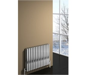 Reina Nerox Polished Stainless Steel Double Panel Radiator 600mm x 590mm