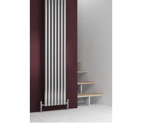 Reina Nerox Polished Stainless Steel Double Panel Radiator 1800mm x 413mm