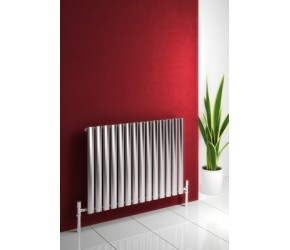 Reina Nerox Brushed Stainless Steel Single Panel Radiator 600mm x 826mm